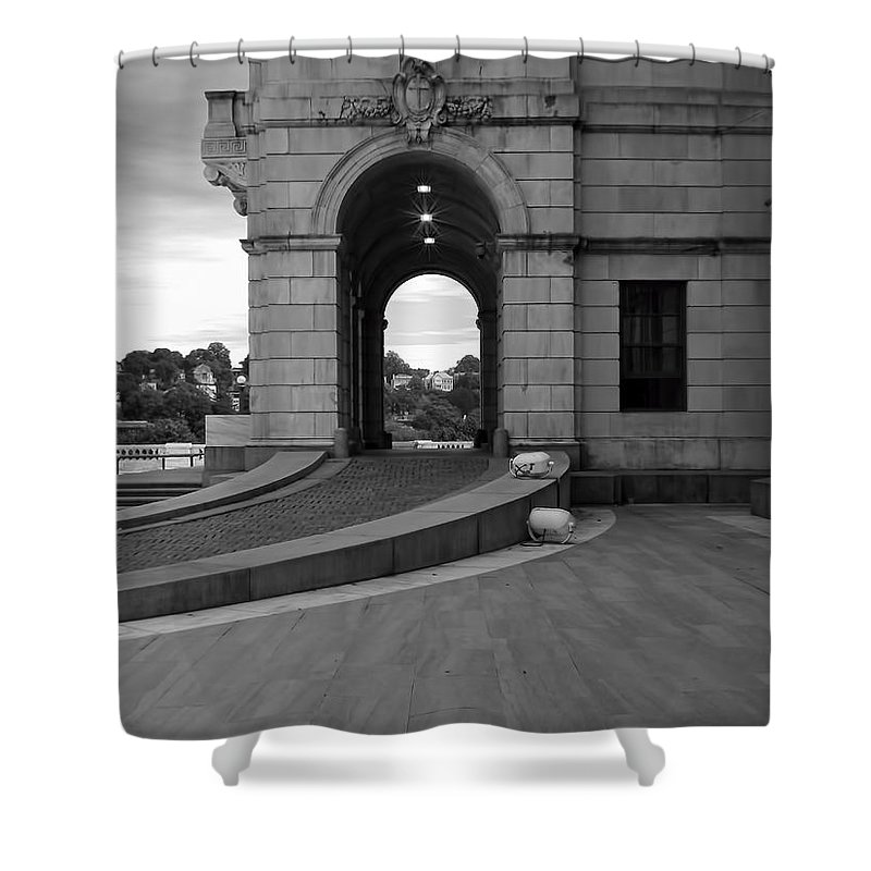 Providence Shower Curtain featuring the photograph Side Entrance by Lourry Legarde
