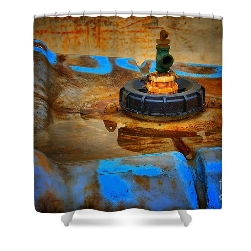 Abstract Shower Curtain featuring the photograph Spigot by Lauren Leigh Hunter Fine Art Photography