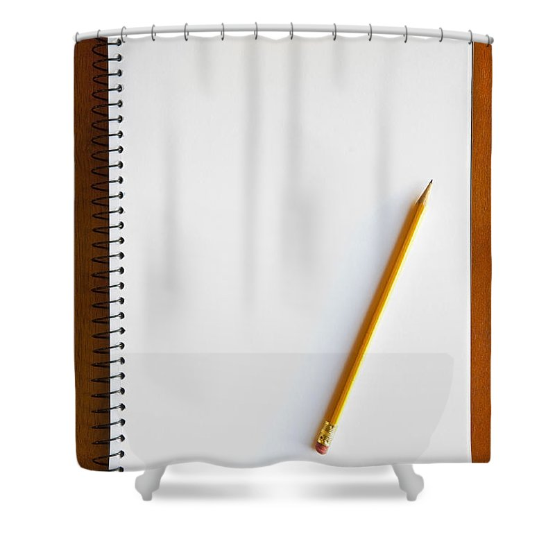 Assignment Shower Curtain featuring the photograph Spiral Notebook by Tim Hester