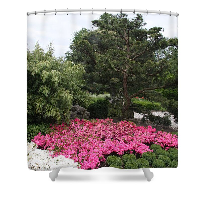 Spring Shower Curtain featuring the photograph Springtime In The Park by Christiane Schulze Art And Photography