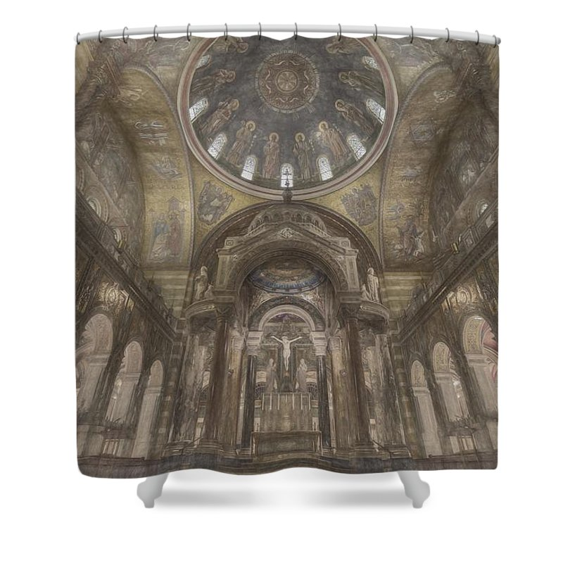 Saint Louis Shower Curtain featuring the photograph St. Louis Missouri Cathedral Basilica by David Haskett II