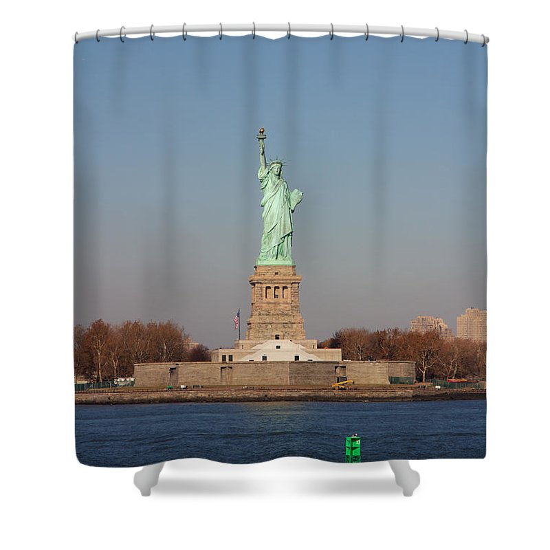 America Shower Curtain featuring the photograph Statue Of Liberty by Jannis Werner