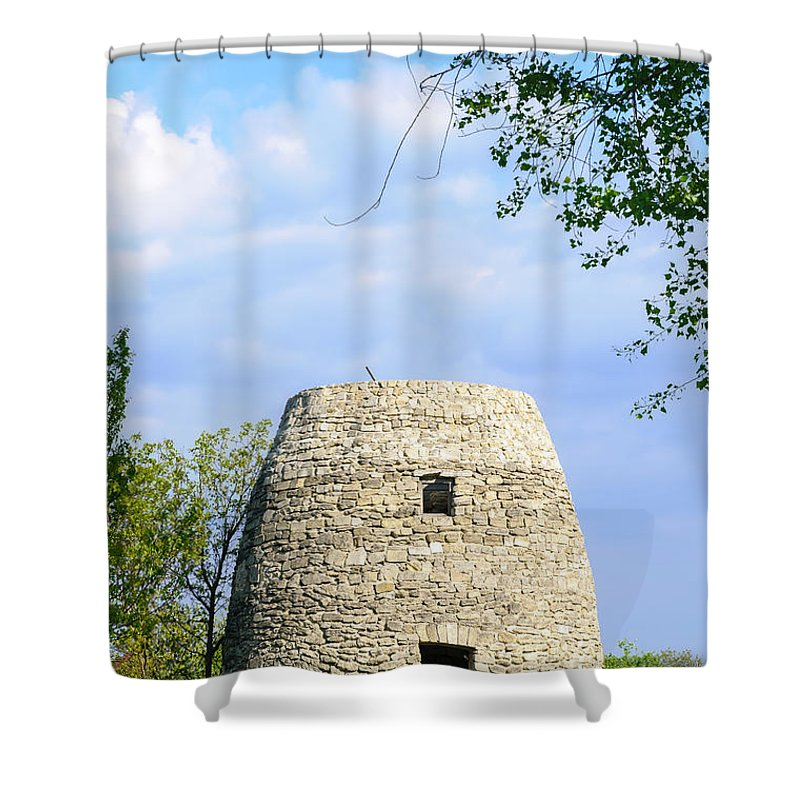 Kiev Shower Curtain featuring the photograph Stone Tower by Alain De Maximy