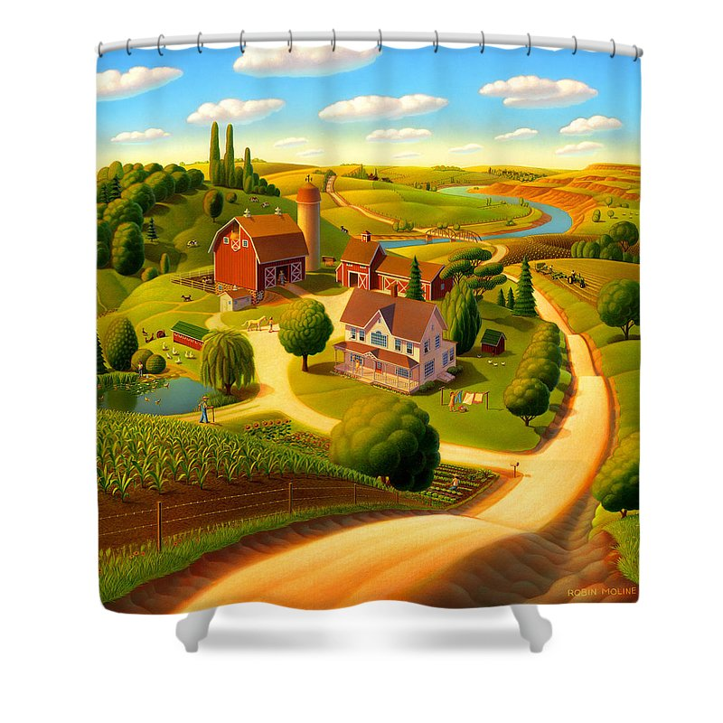 Rural Scene Shower Curtains