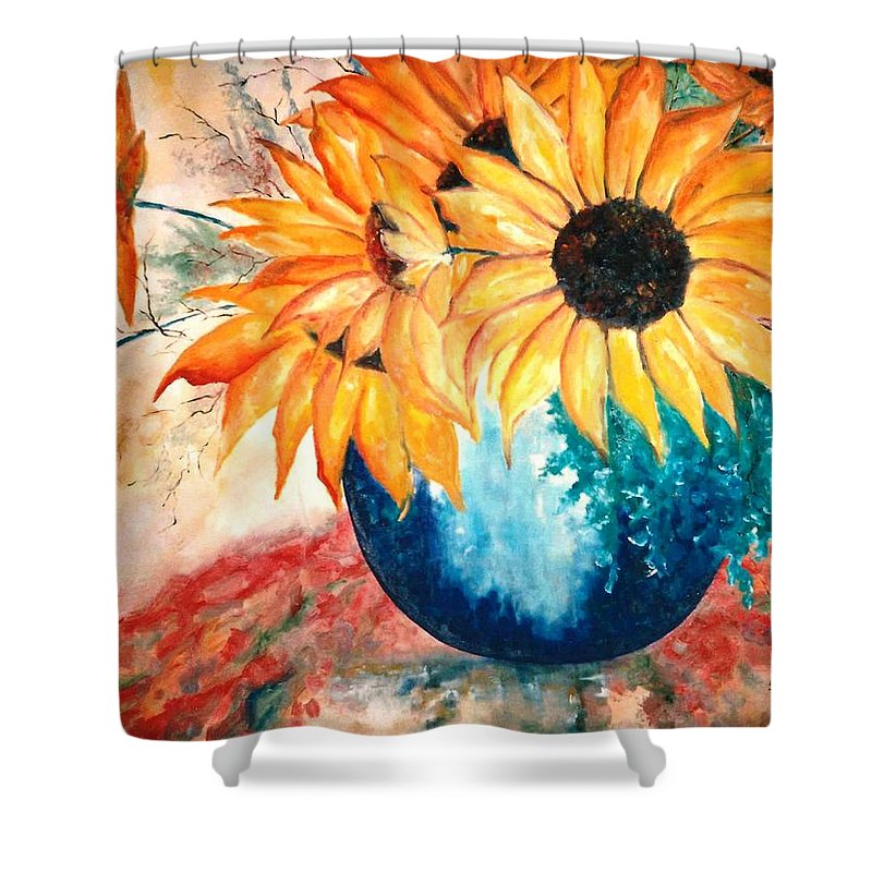 Lyle Shower Curtain featuring the painting Sun Flower by Lord Frederick Lyle Morris - Disabled Veteran
