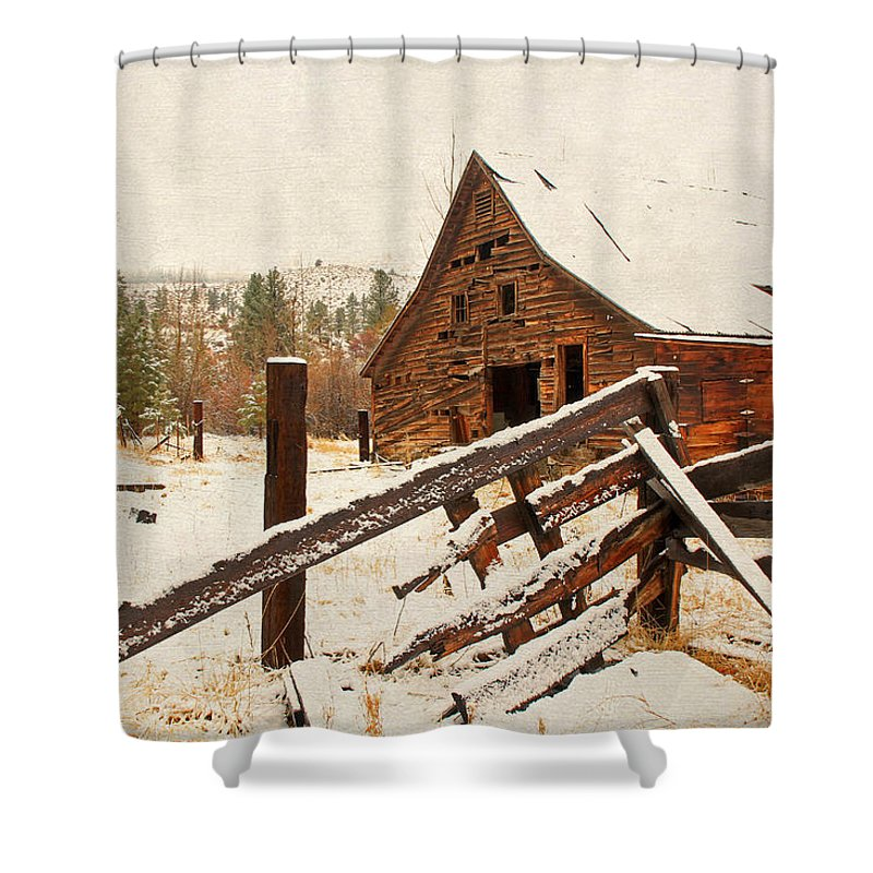 Barns Shower Curtain featuring the photograph Surviving The Elements by Donna Kennedy