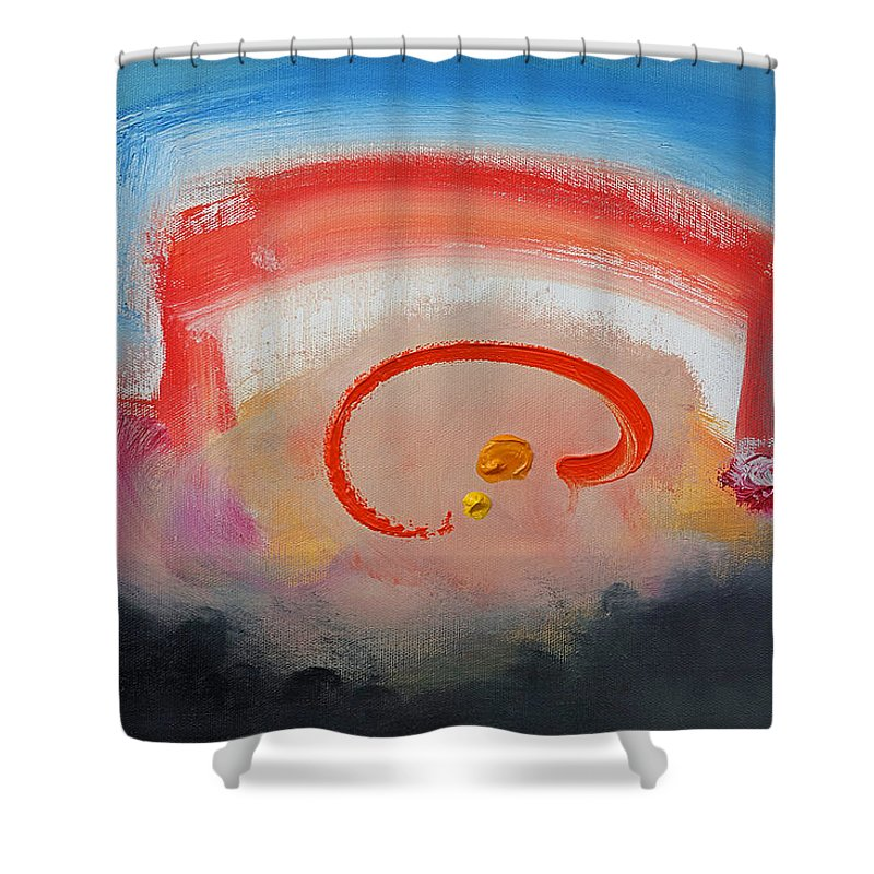 Hip Hop Shower Curtain featuring the painting Thats Entertainment by Charles Stuart