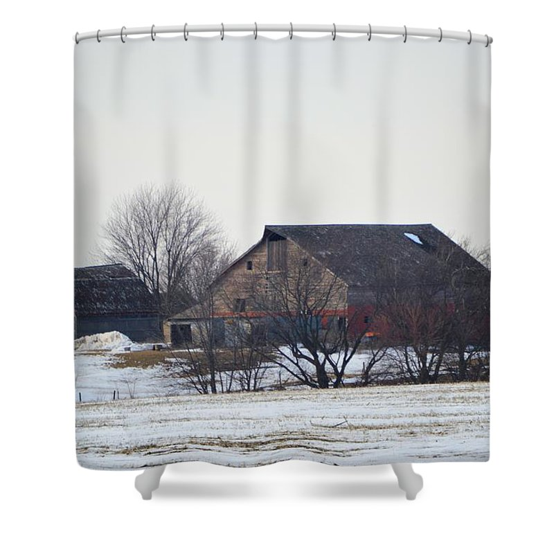Barn Shower Curtain featuring the photograph The Farm by Bonfire Photography