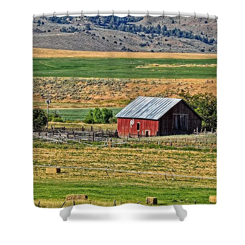 Barn Shower Curtain featuring the photograph The Farm by Image Takers Photography LLC