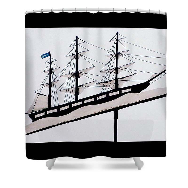 Ship Shower Curtain featuring the photograph The Good Ship Bethel by Kathy Barney