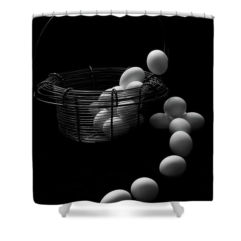 Escape Shower Curtain featuring the photograph The Great Eggscape by Jim Garrison