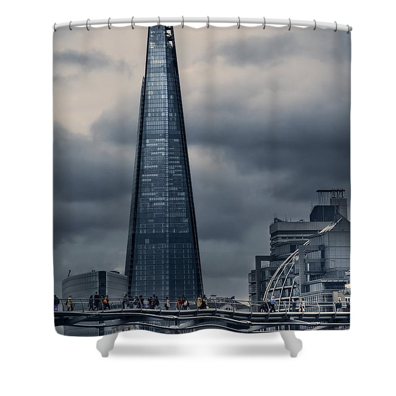 The Shard Was Conceived As A Building With Multiple Uses: A Vertical City Where People Could Live Shower Curtain featuring the photograph The Shard by Istvan Kadar