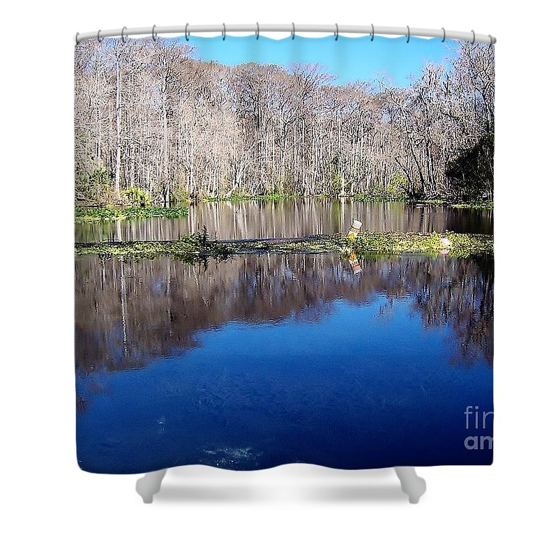 River Shower Curtain featuring the photograph River - Reflection by D Hackett