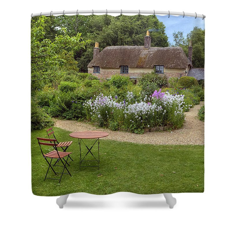 Thomas Hardy's Cottage Shower Curtain featuring the photograph Thomas Hardy's Cottage by Joana Kruse