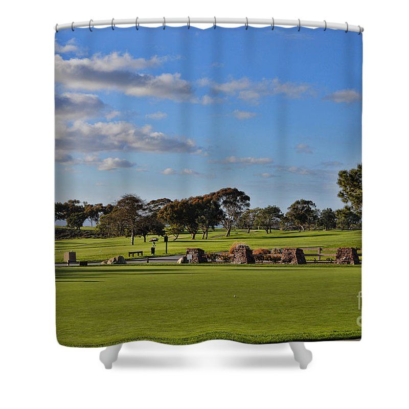Torrey Pines Golf Course Shower Curtain featuring the photograph Torrey Pines Golf Course by Tommy Anderson