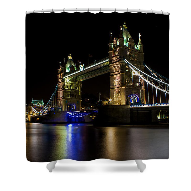 Tower Shower Curtain featuring the photograph Tower Bridge by Martin Newman