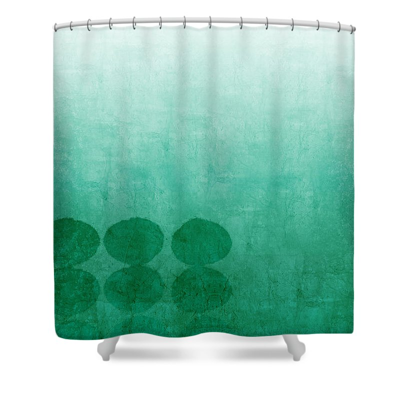Abstract Shower Curtain featuring the painting Tranquility by Linda Woods