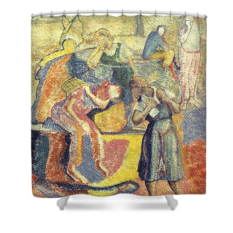Johnpowellpaintings Shower Curtain featuring the painting Trapped In Time by John Powell