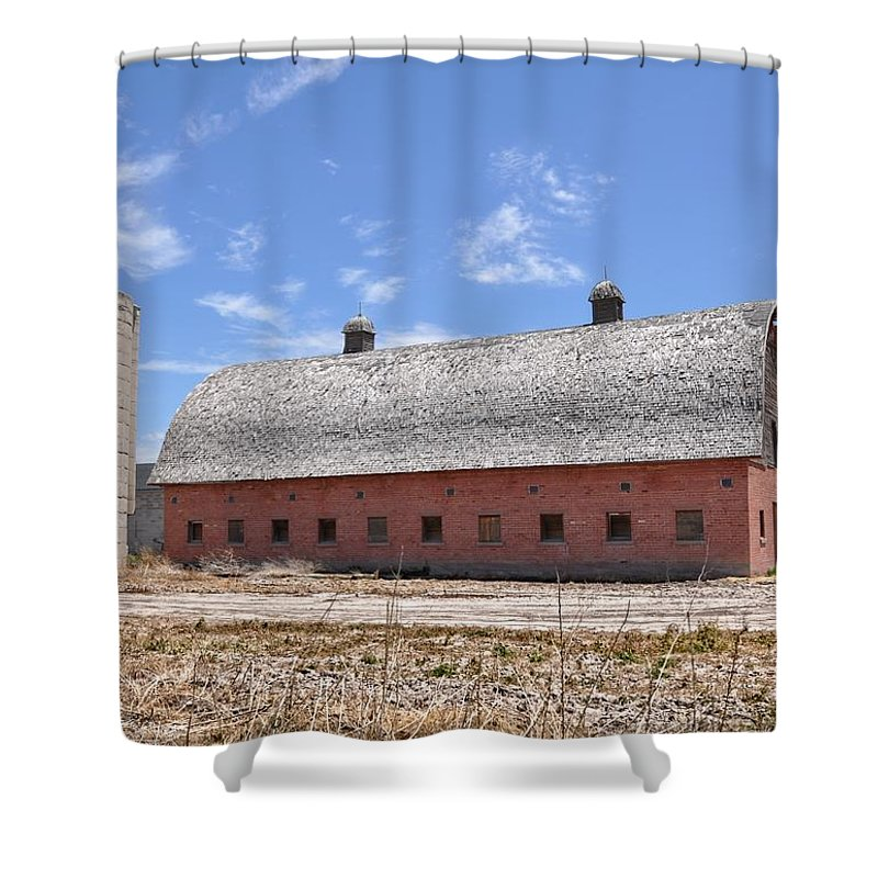 Silos Shower Curtain featuring the photograph Tremonton by Image Takers Photography LLC