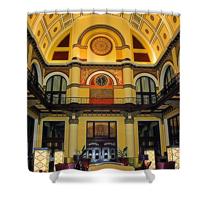 Union Station Lobby Shower Curtain featuring the photograph Union Station Lobby Larger Size by Kristin Elmquist