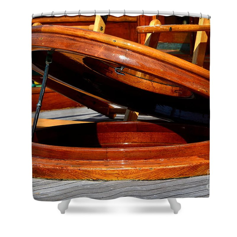 Shower Curtain featuring the photograph Vancouver Bc Classic Boats by Dean Ferreira