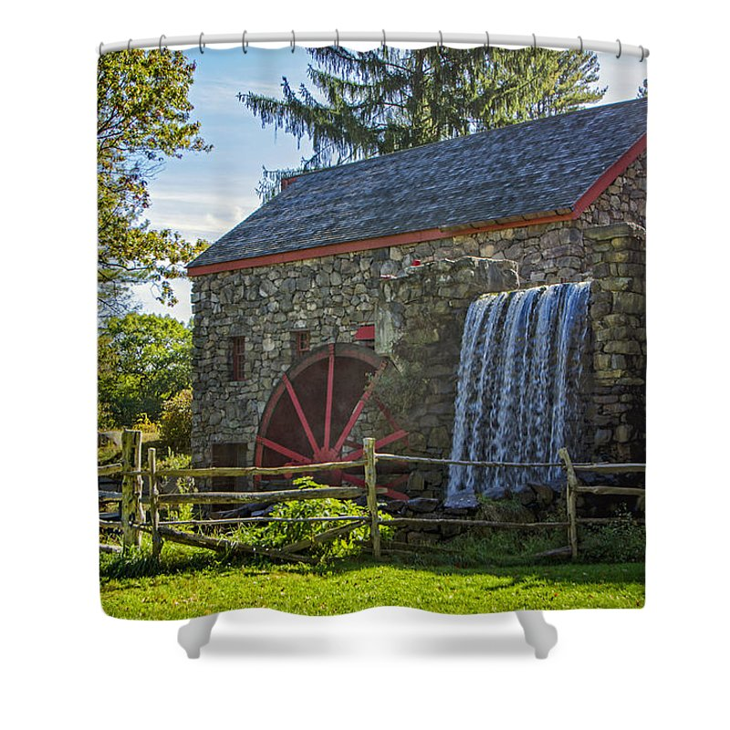 Grist Mill Shower Curtain featuring the photograph Wayside Inn Grist Mill by Donna Doherty