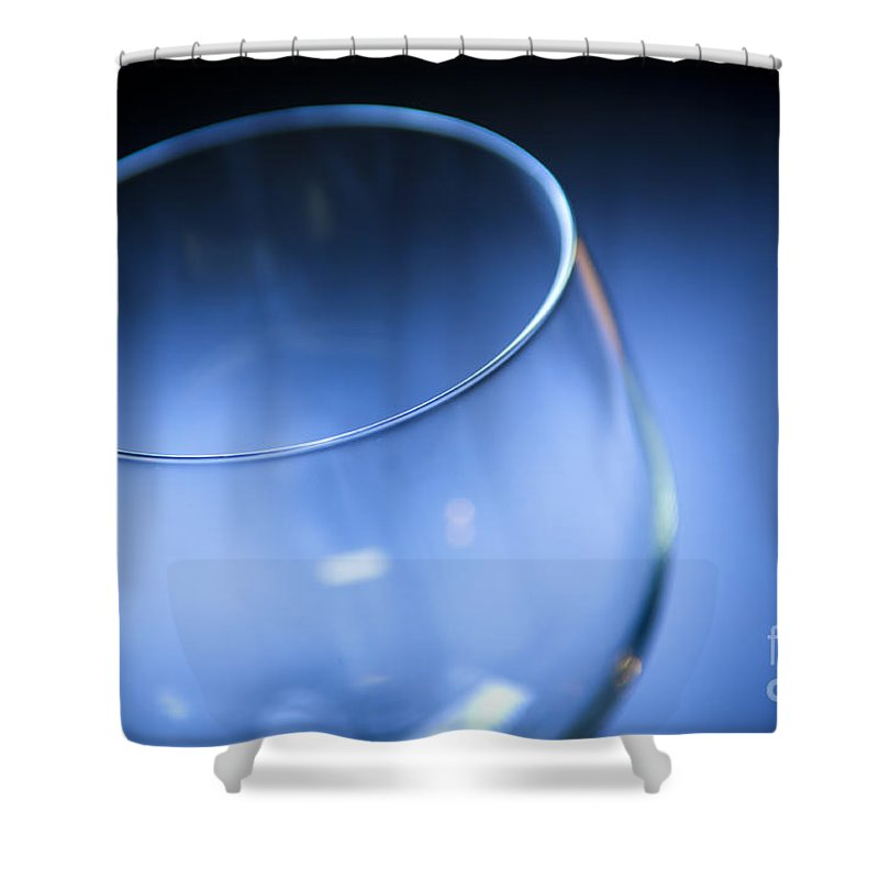 Above Shower Curtain featuring the photograph Wine Glass by Tim Hester