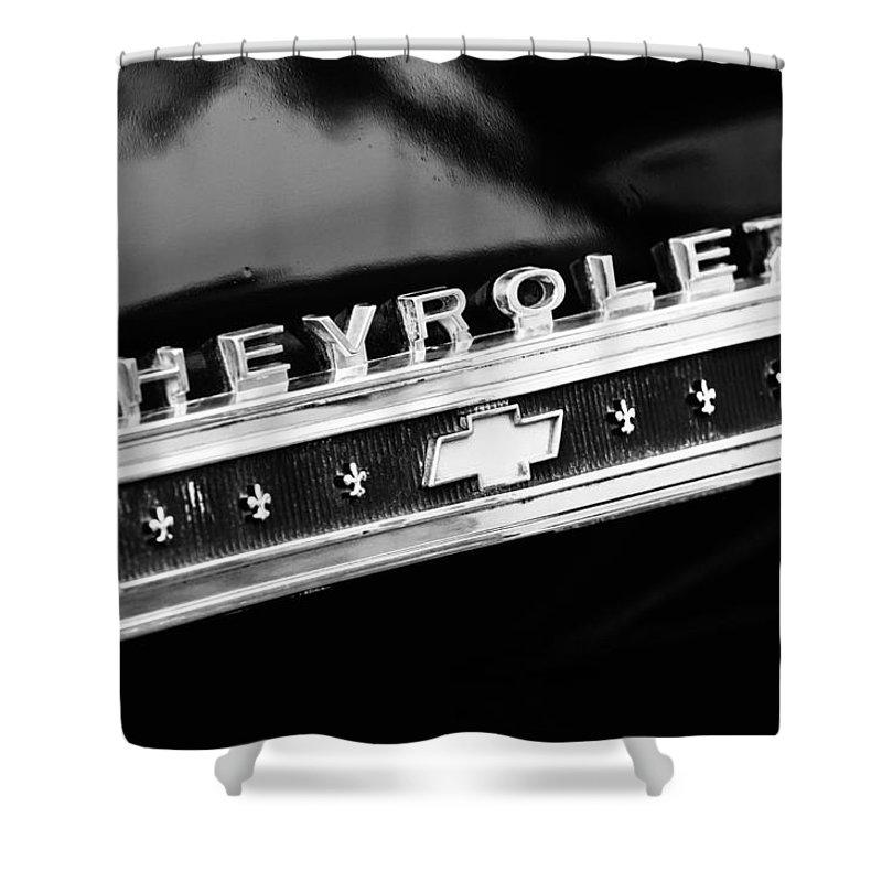 Chevrolet Emblem Shower Curtain featuring the photograph Chevrolet Emblem by Jill Reger