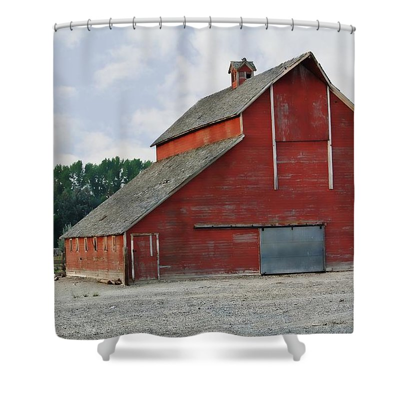 Barn Shower Curtain featuring the photograph Idaho Falls by Image Takers Photography LLC