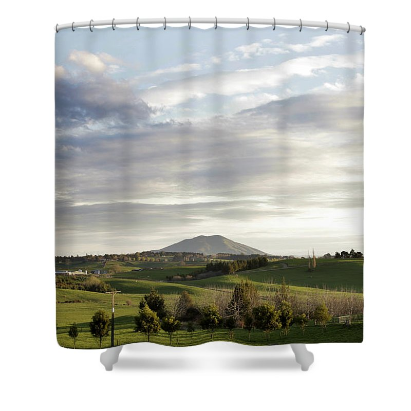 Agricultural Shower Curtain featuring the photograph New Zealand by Les Cunliffe