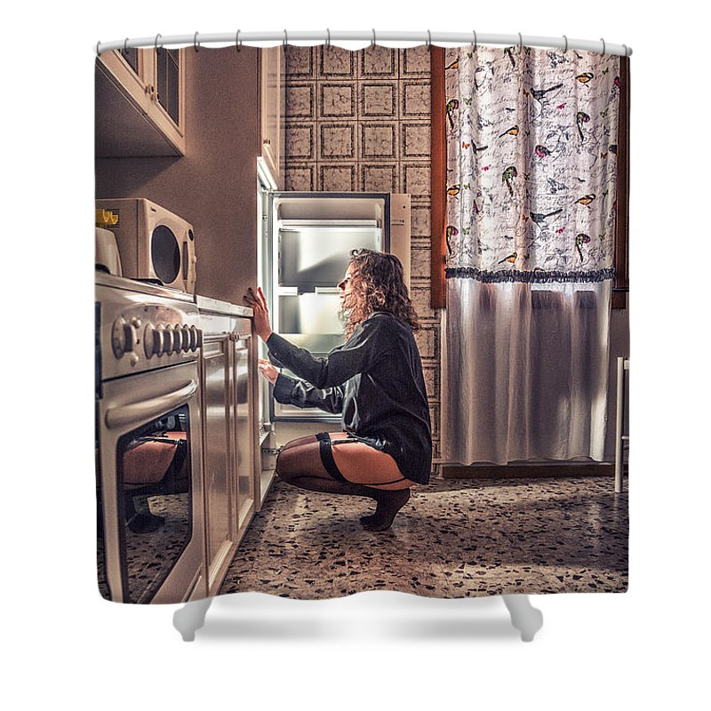 Adult Shower Curtain featuring the photograph Que Nos Vies Aient L'air D'un Film by Traven Milovich