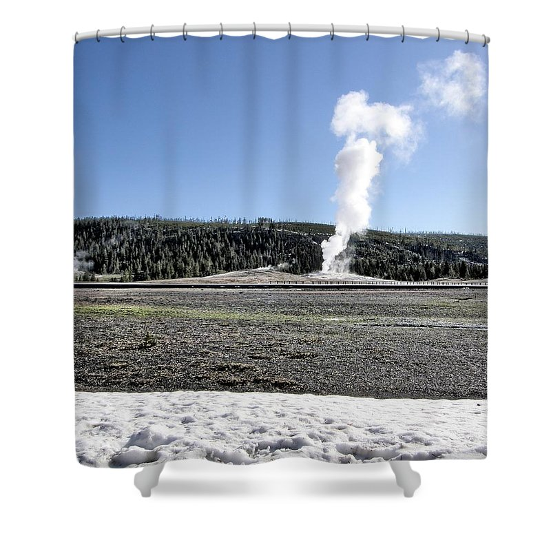 Yellowstone Shower Curtain featuring the photograph Yellowstone by Image Takers Photography LLC