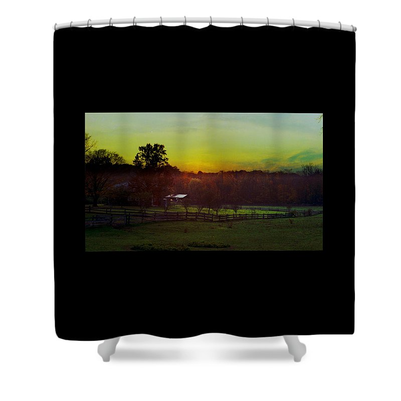 Sunrise Shower Curtain featuring the photograph 101908-1 by Mike Davis