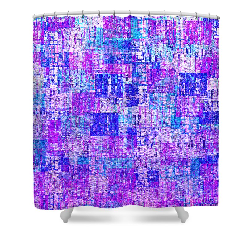 Abstract Shower Curtain featuring the digital art 1065 Abstract Thought by Chowdary V Arikatla