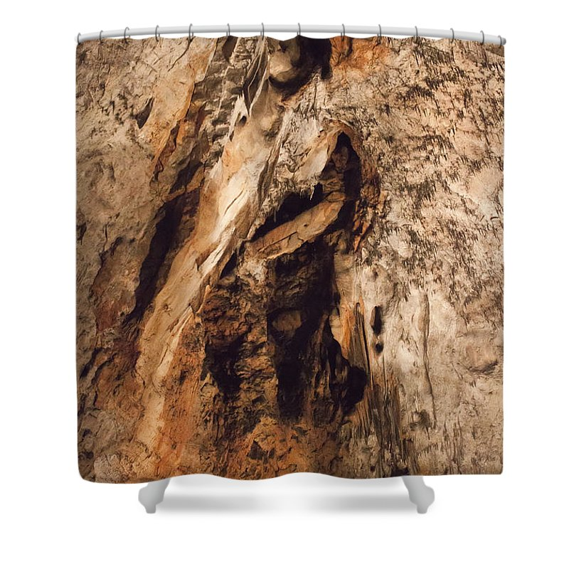 Cave Shower Curtain featuring the photograph Baradla by Daniel Csoka