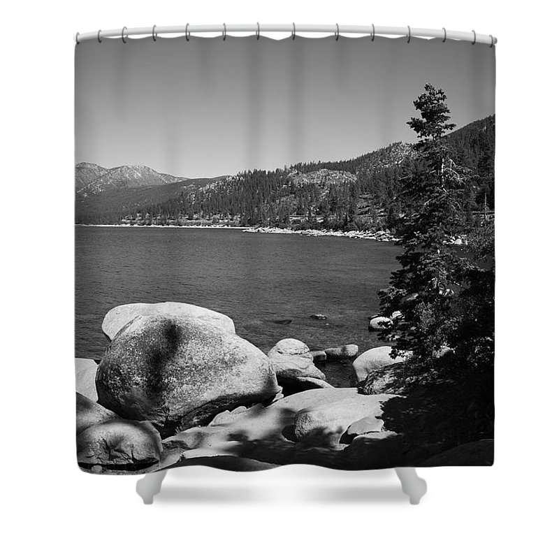 Alpine Shower Curtain featuring the photograph Lake Tahoe by Frank Romeo