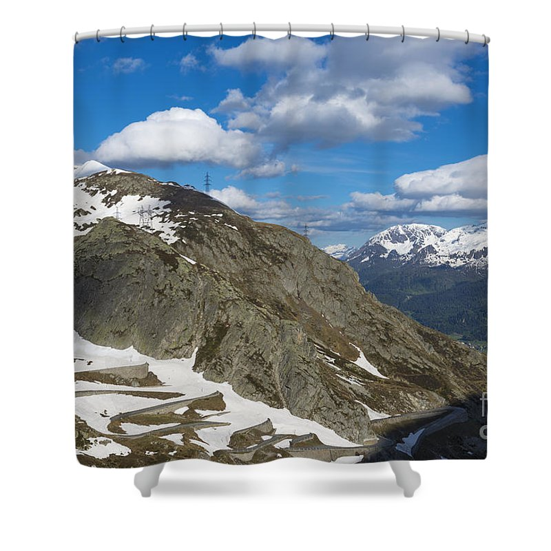 Mountain Road Shower Curtain featuring the photograph Mountain Road by Mats Silvan