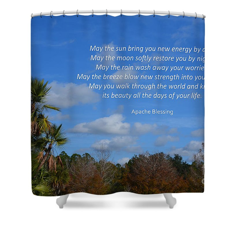 Apache Blessing Shower Curtain featuring the photograph 113- Apache Blessing by Joseph Keane