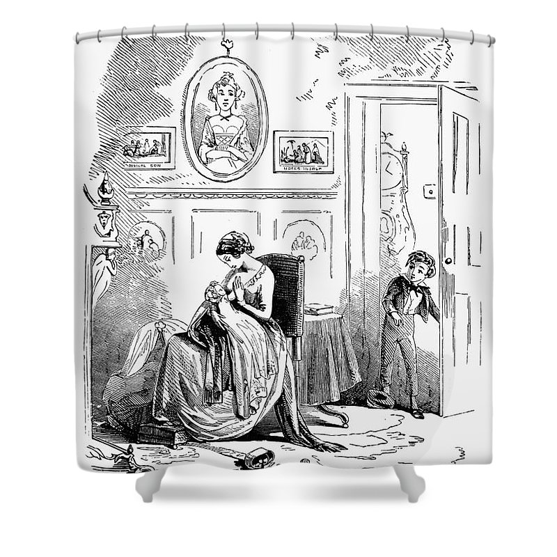 19th Century Shower Curtain featuring the photograph Dickens: David Copperfield by Granger