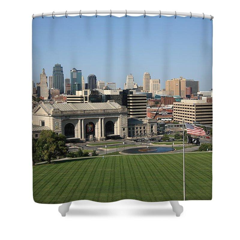 America Shower Curtain featuring the photograph Kansas City Skyline by Frank Romeo