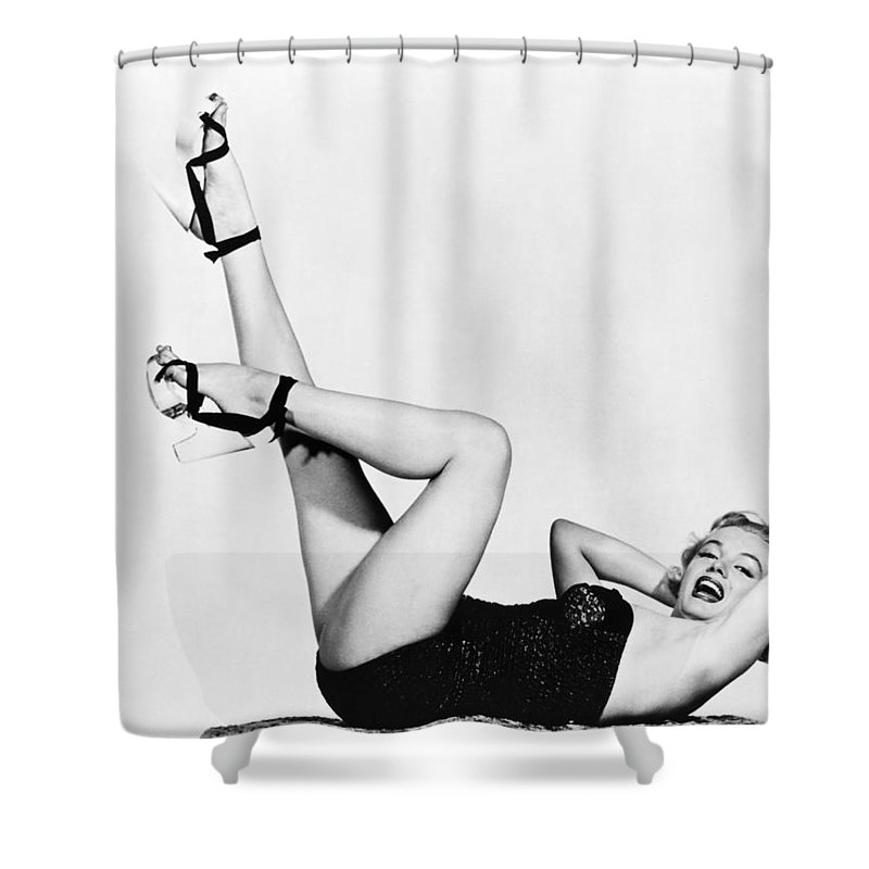 20th Century Shower Curtain featuring the photograph Marilyn Monroe by Granger