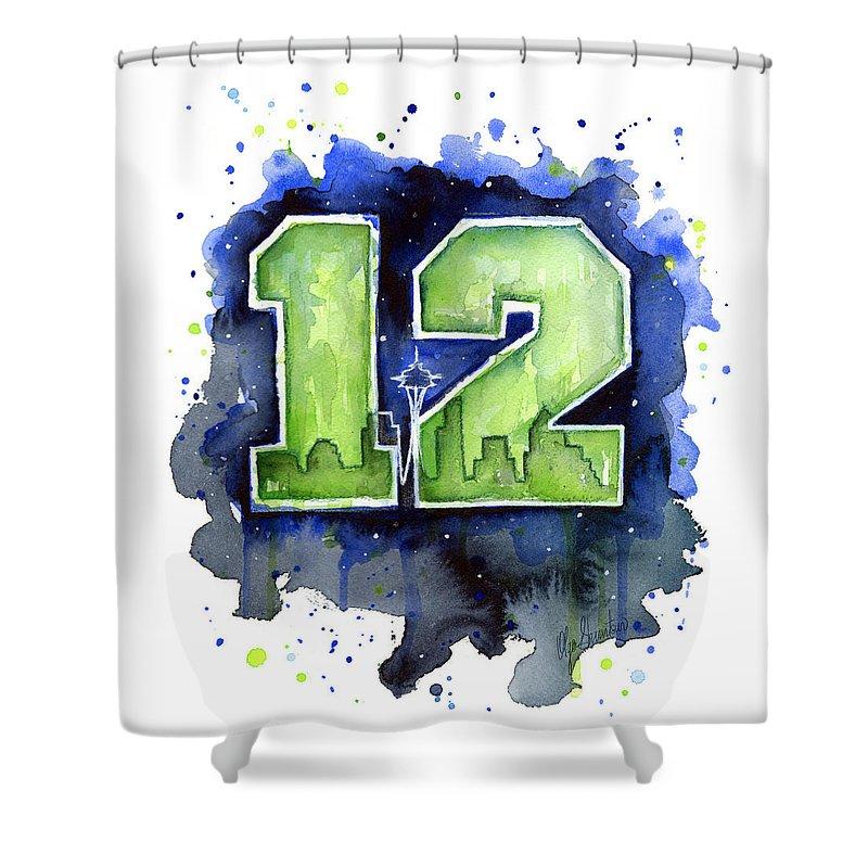 12th Man Seahawks Art Seattle Go Hawks Shower Curtain For Sale By