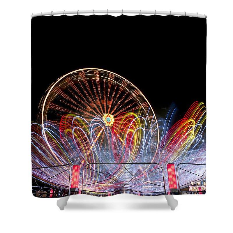 Amusement Park Shower Curtain featuring the photograph Amusement Park by Mats Silvan