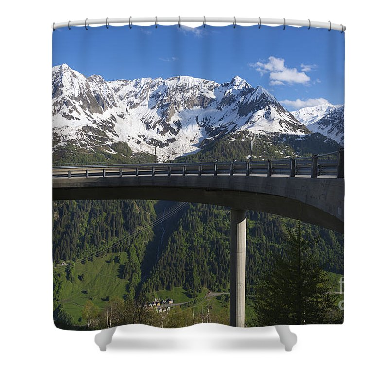 Mountain Shower Curtain featuring the photograph Mountain Road by Mats Silvan