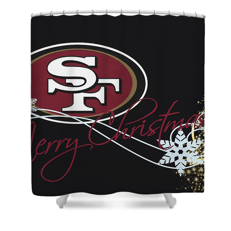Sonaby Custom San Francisco 49ers Waterproof Fabric Shower Curtain For Bathroom Decoration