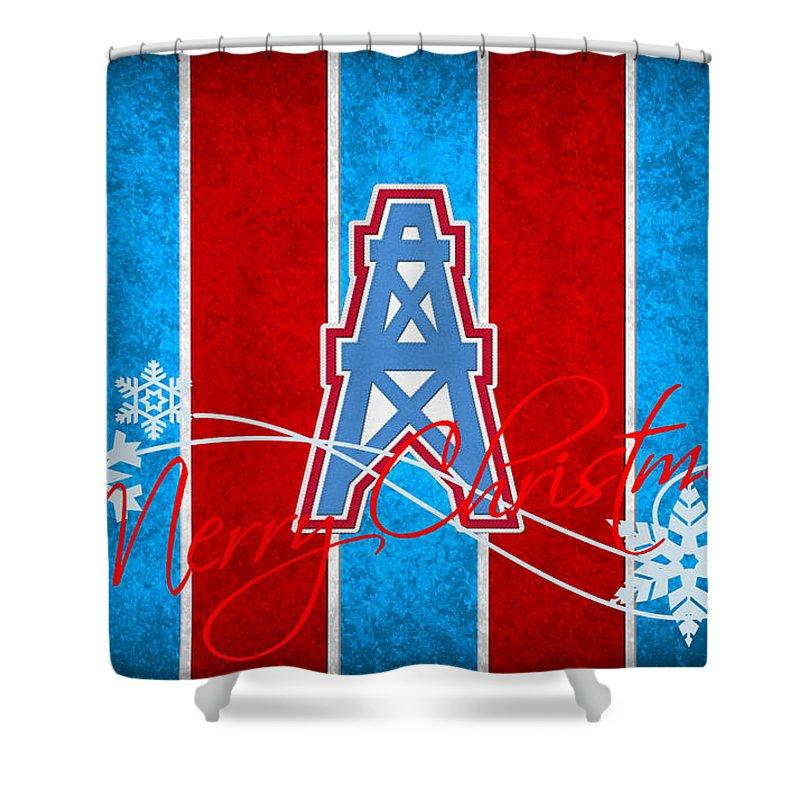 993c5acbd Oilers Shower Curtain featuring the photograph Houston Oilers by Joe  Hamilton