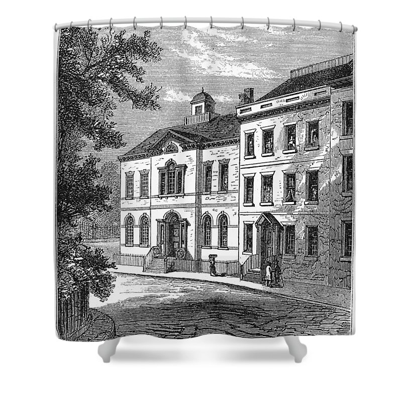 1776 Shower Curtain featuring the photograph Washington: Headquarters by Granger