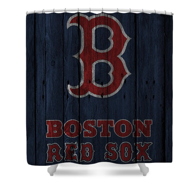 Red Sox Shower Curtain Featuring The Photograph Boston By Joe Hamilton