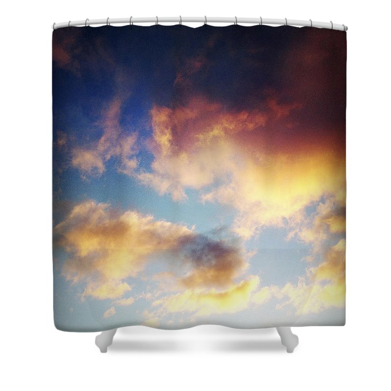 Skies Shower Curtain featuring the photograph Clouds by Les Cunliffe