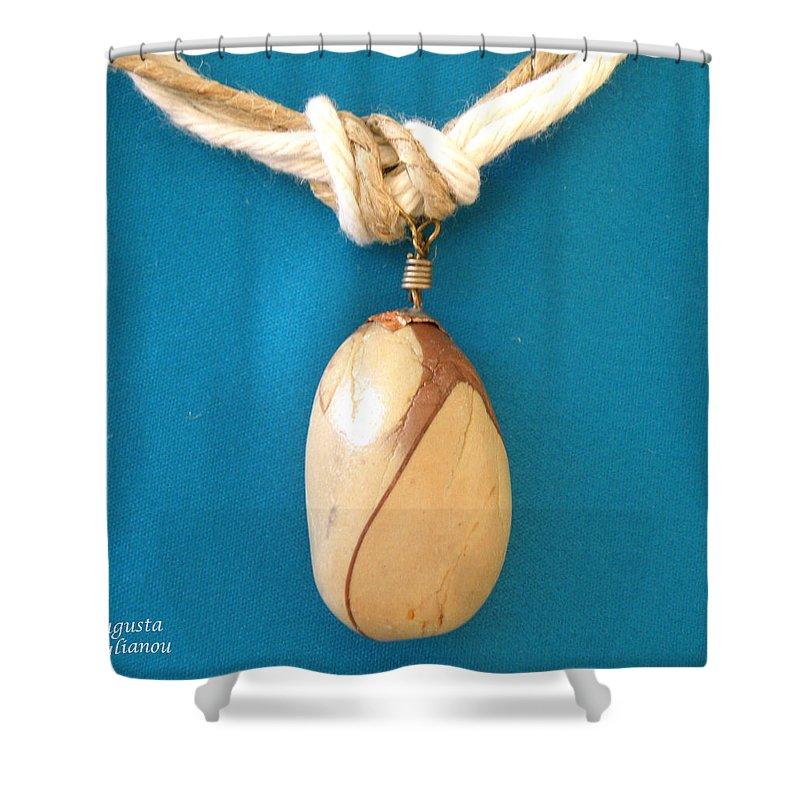 Augusta Stylianou Shower Curtain featuring the jewelry Aphrodite Urania Necklace by Augusta Stylianou